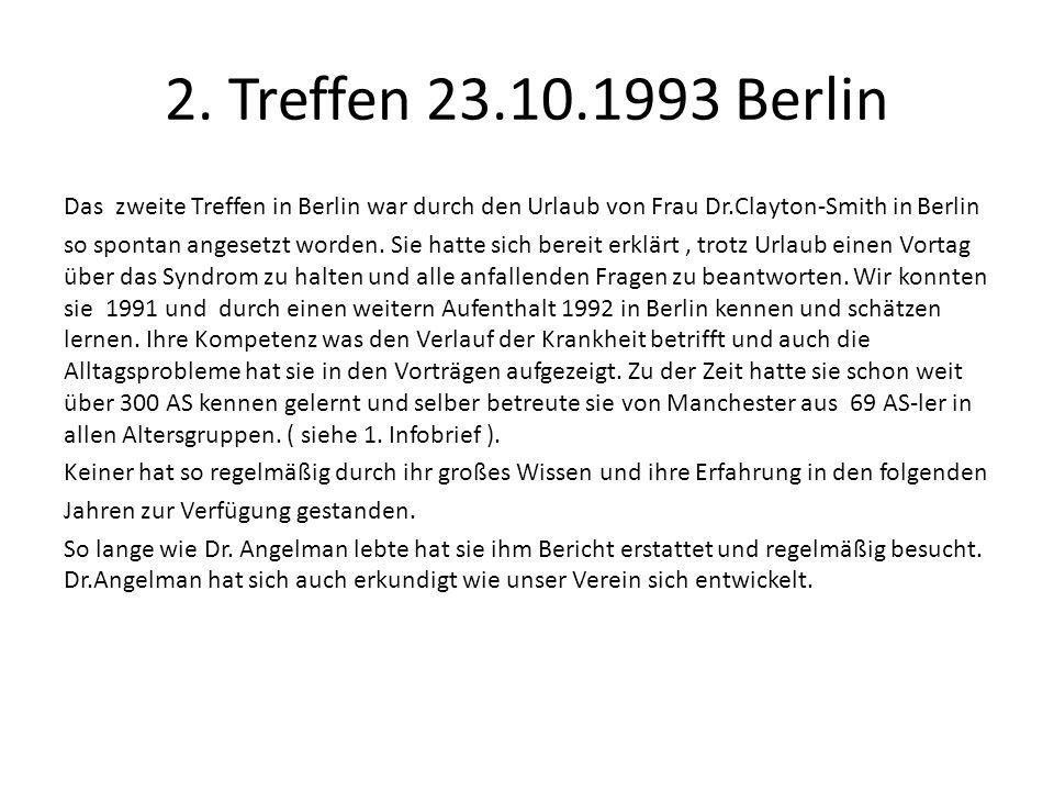 2. Treffen 23.10.1993 Berlin