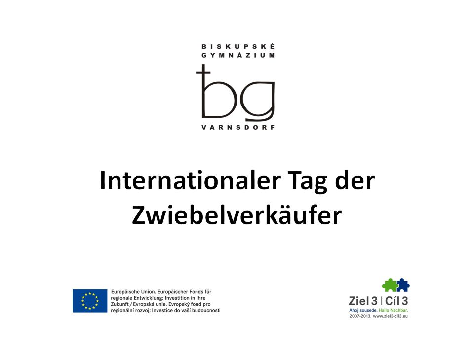 Internationaler Tag der Zwiebelverkäufer