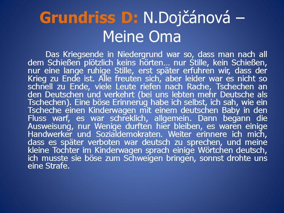 Grundriss D: N.Dojčánová – Meine Oma