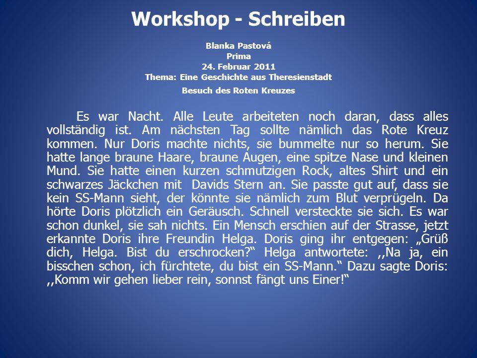 Workshop - Schreiben Blanka Pastová Prima 24