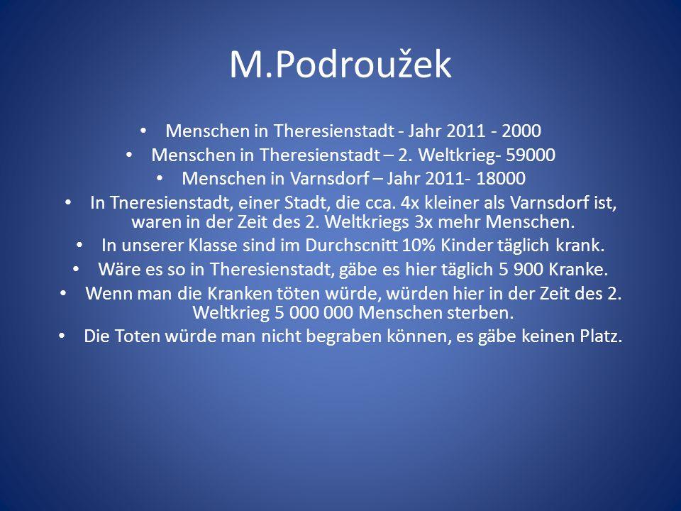 M.Podroužek Menschen in Theresienstadt - Jahr 2011 - 2000