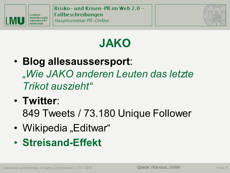 """JakoBlog allesaussersport: """"Wie JAKO anderen Leuten das letzte Trikot auszieht Twitter: 849 Tweets / 73.180 Unique Follower."""