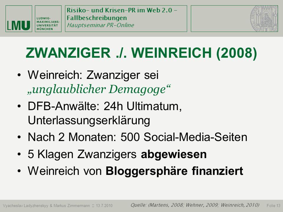 Zwanziger ./. WeinrEich (2008)