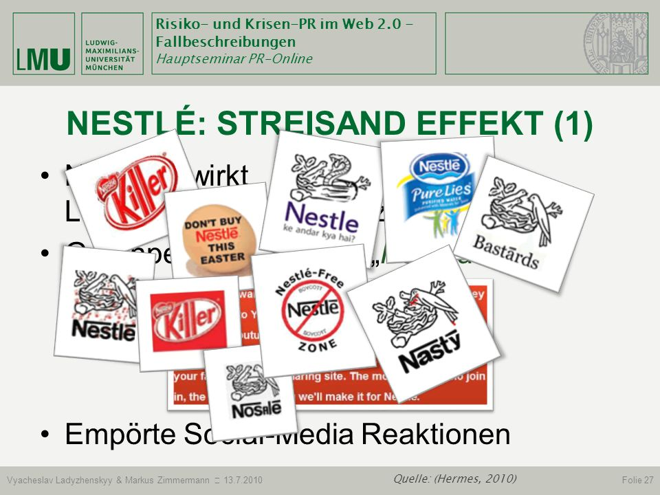 Nestlé: Streisand Effekt (1)