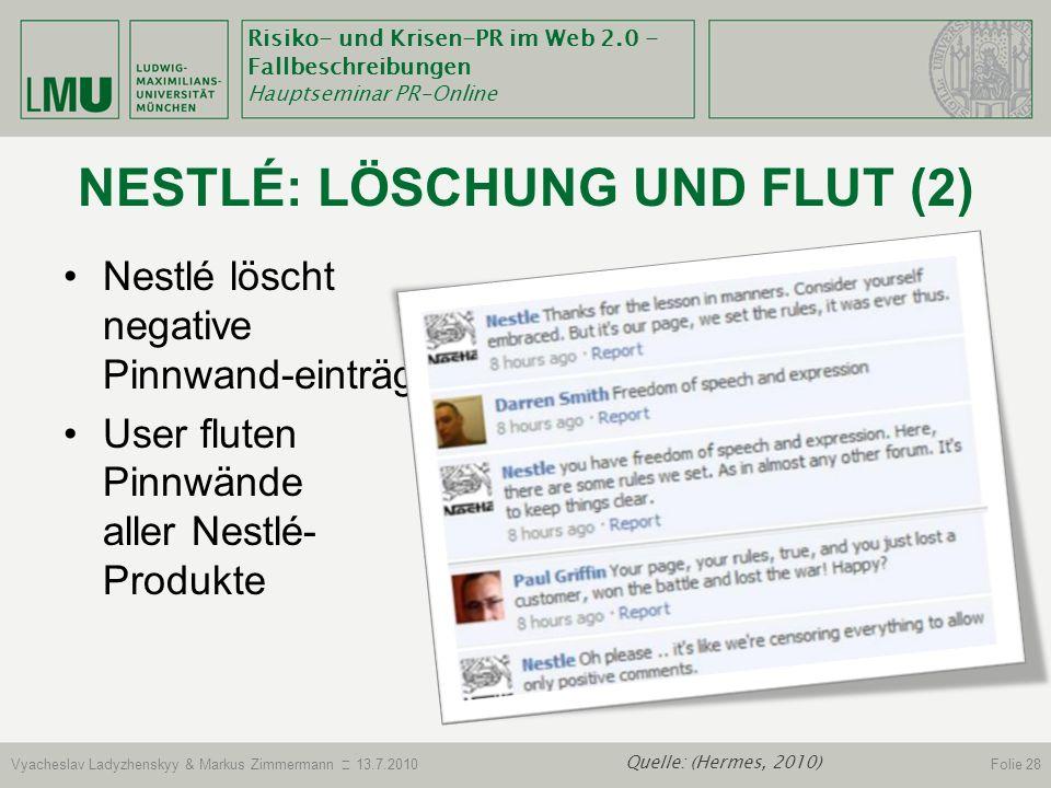 Nestlé: Löschung und Flut (2)