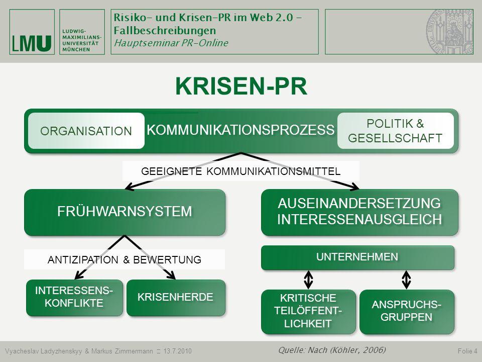 Krisen-Pr Kommunikationsprozess Auseinandersetzung Interessenausgleich