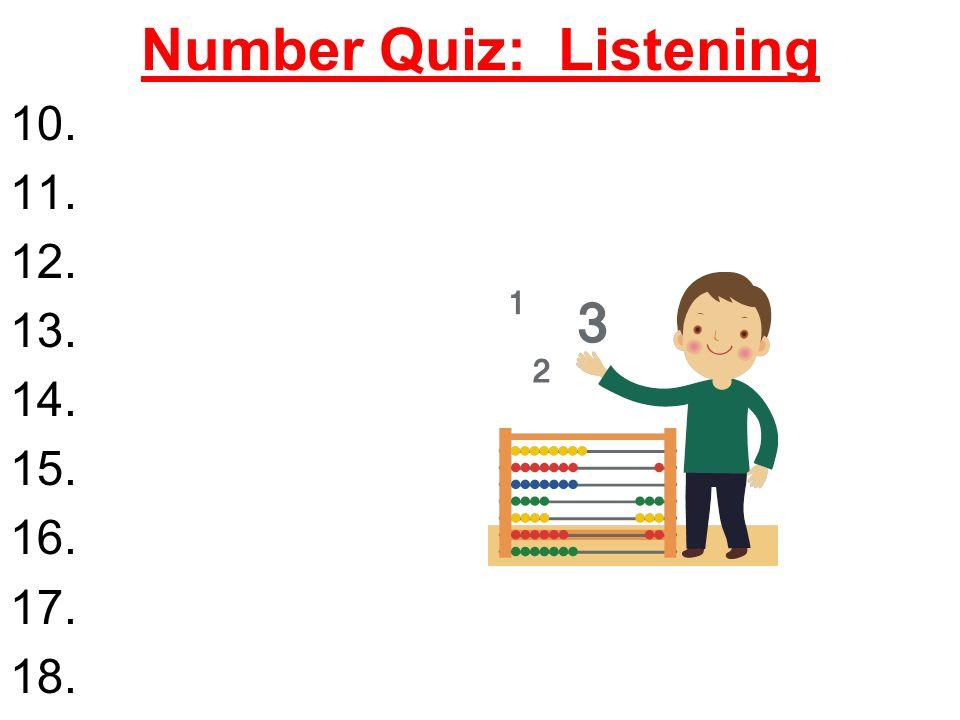 Number Quiz: Listening