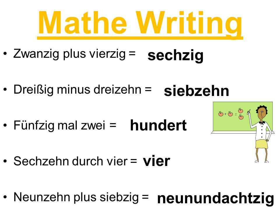 Mathe Writing sechzig siebzehn hundert vier neunundachtzig