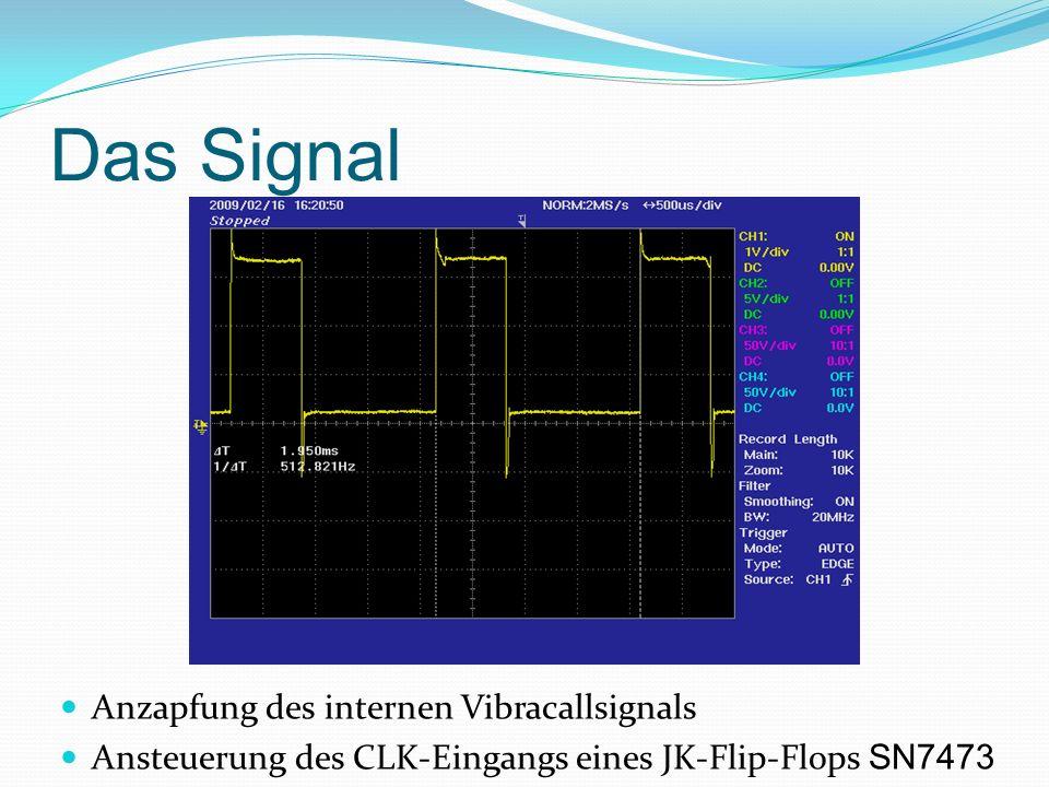 Das Signal Anzapfung des internen Vibracallsignals