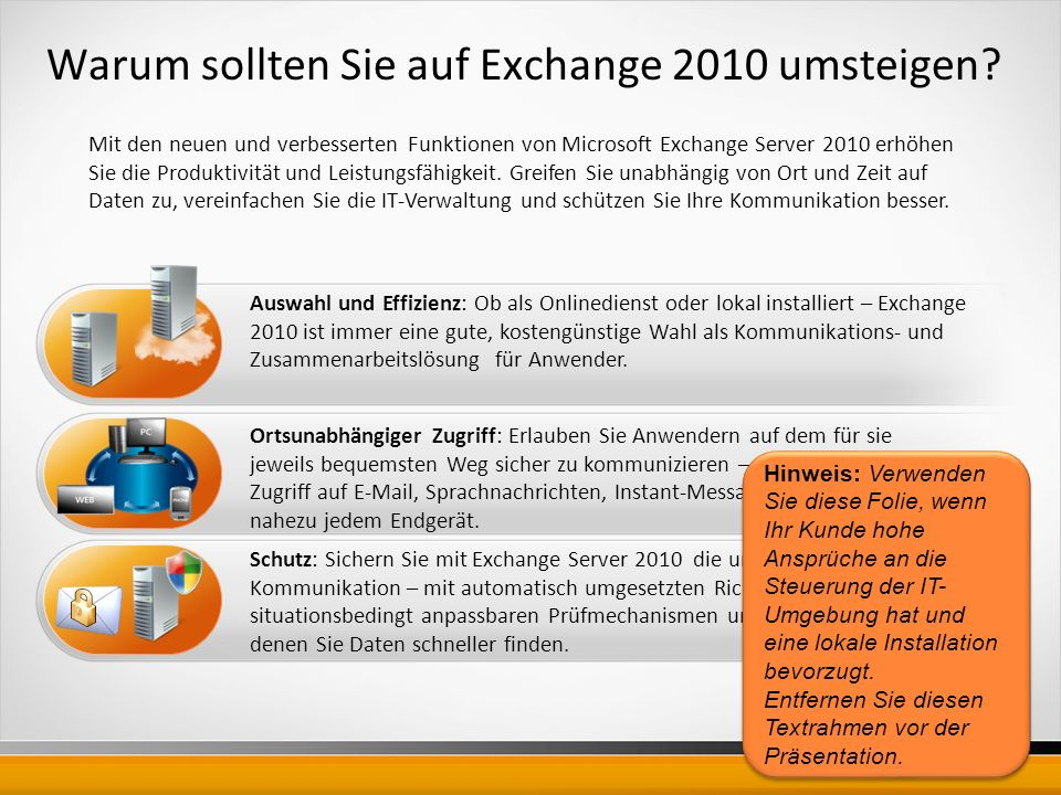Warum sollten Sie auf Exchange 2010 umsteigen