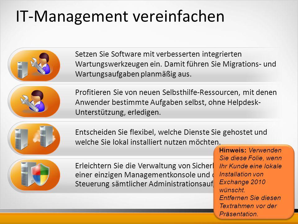 IT-Management vereinfachen