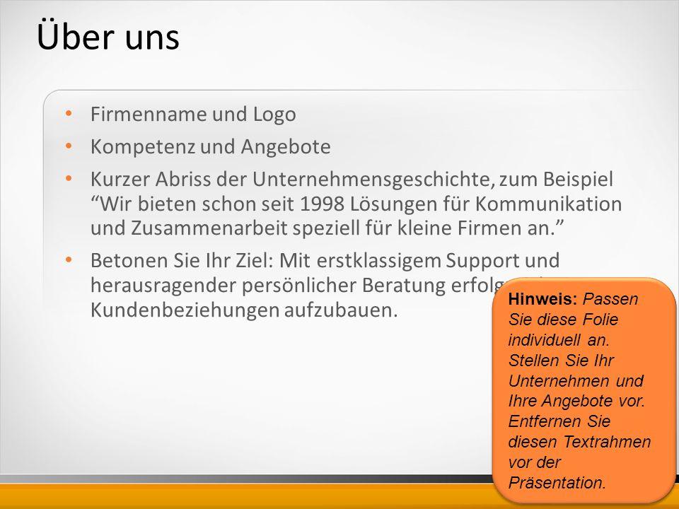 Über uns Firmenname und Logo Kompetenz und Angebote