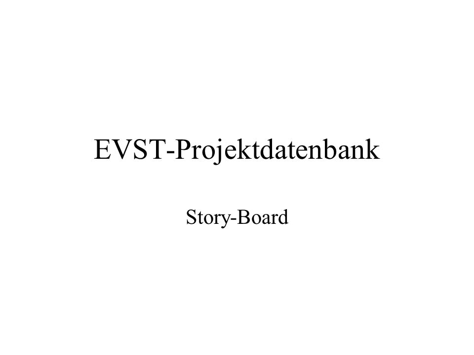 EVST-Projektdatenbank
