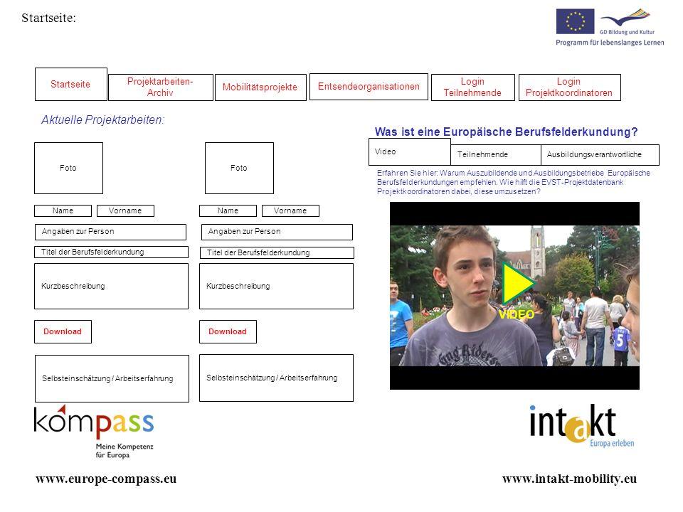 Startseite: www.europe-compass.eu www.intakt-mobility.eu