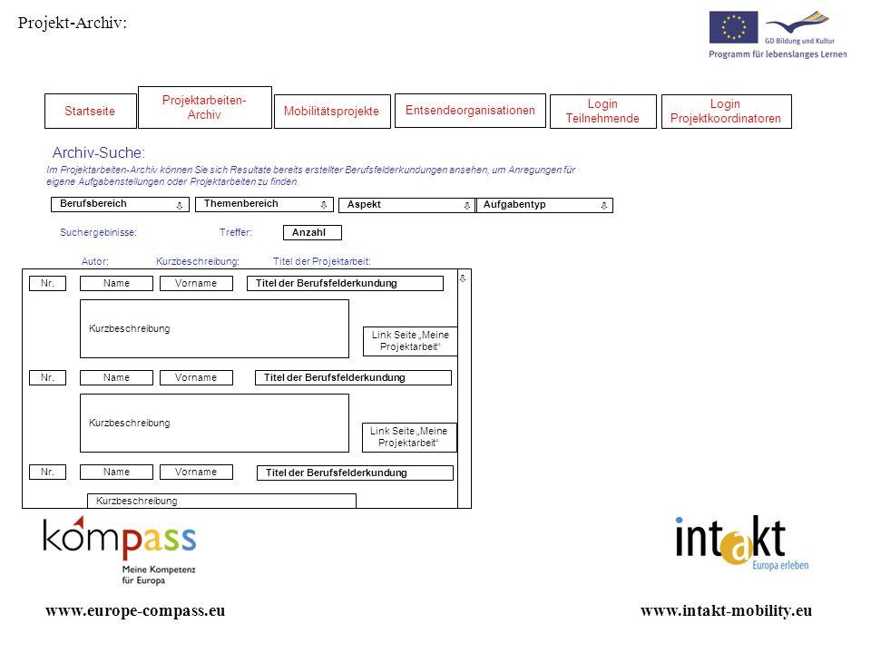 Projekt-Archiv: www.europe-compass.eu www.intakt-mobility.eu