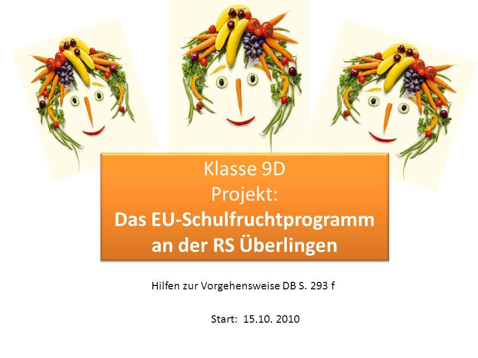 Das EU-Schulfruchtprogramm