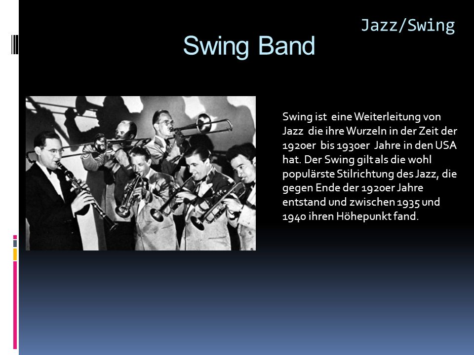 Jazz/Swing Swing Band.