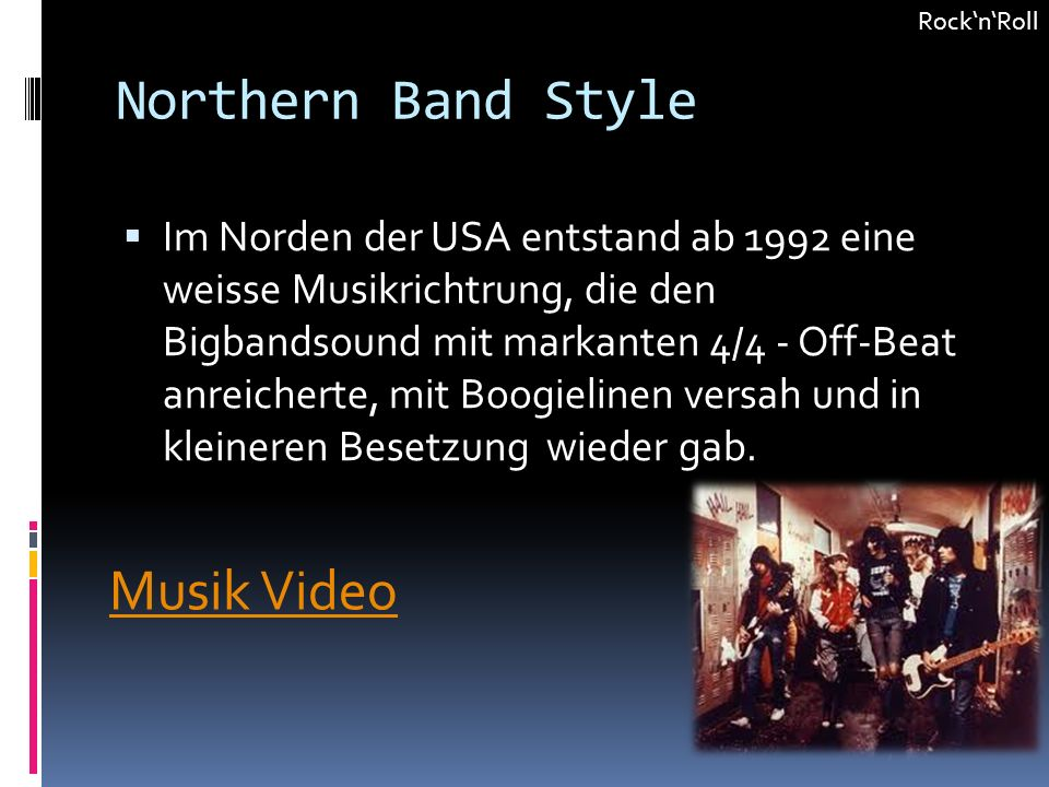 Northern Band Style Musik Video