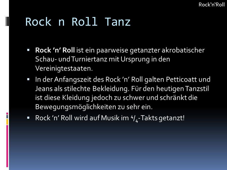 Rock'n'Roll Rock n Roll Tanz.