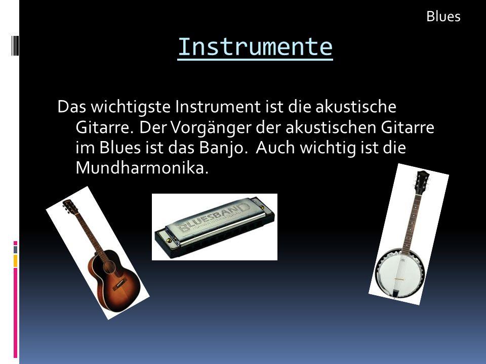 Blues Instrumente.