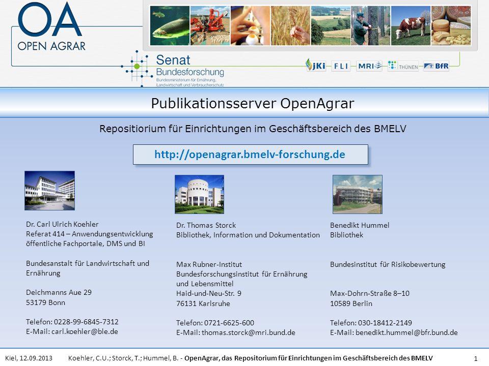 Publikationsserver OpenAgrar
