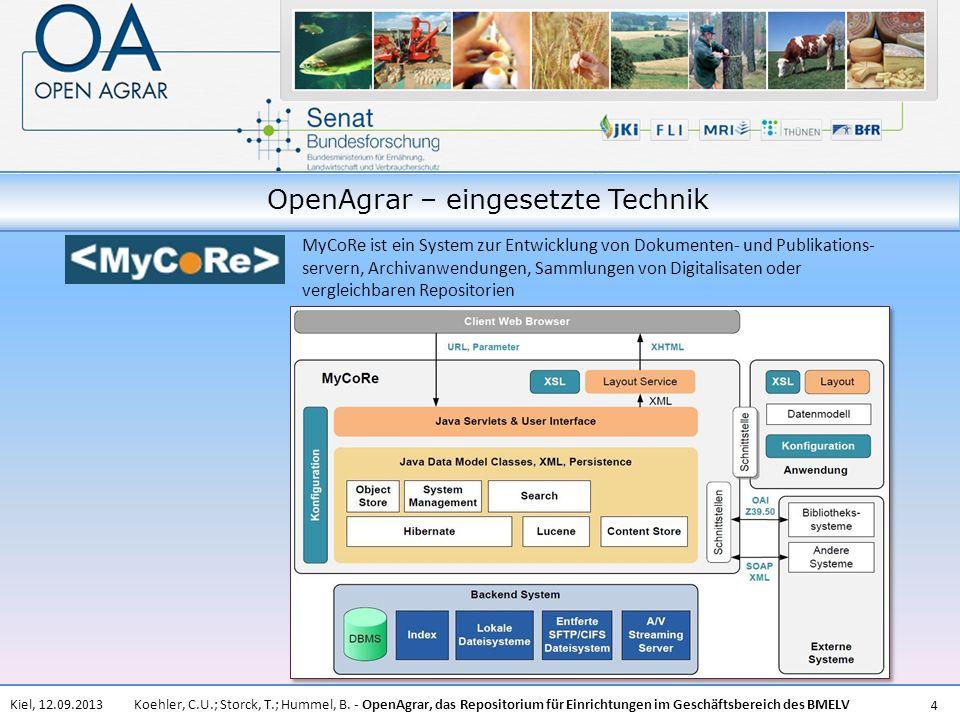 OpenAgrar – eingesetzte Technik