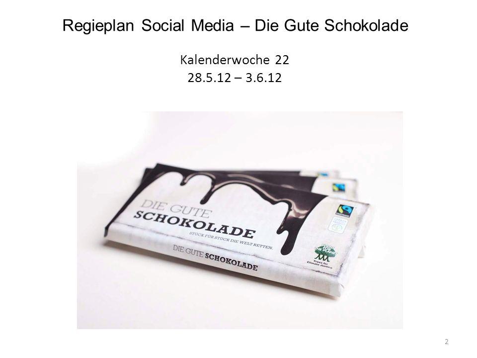 Regieplan Social Media – Die Gute Schokolade Kalenderwoche 22 28. 5