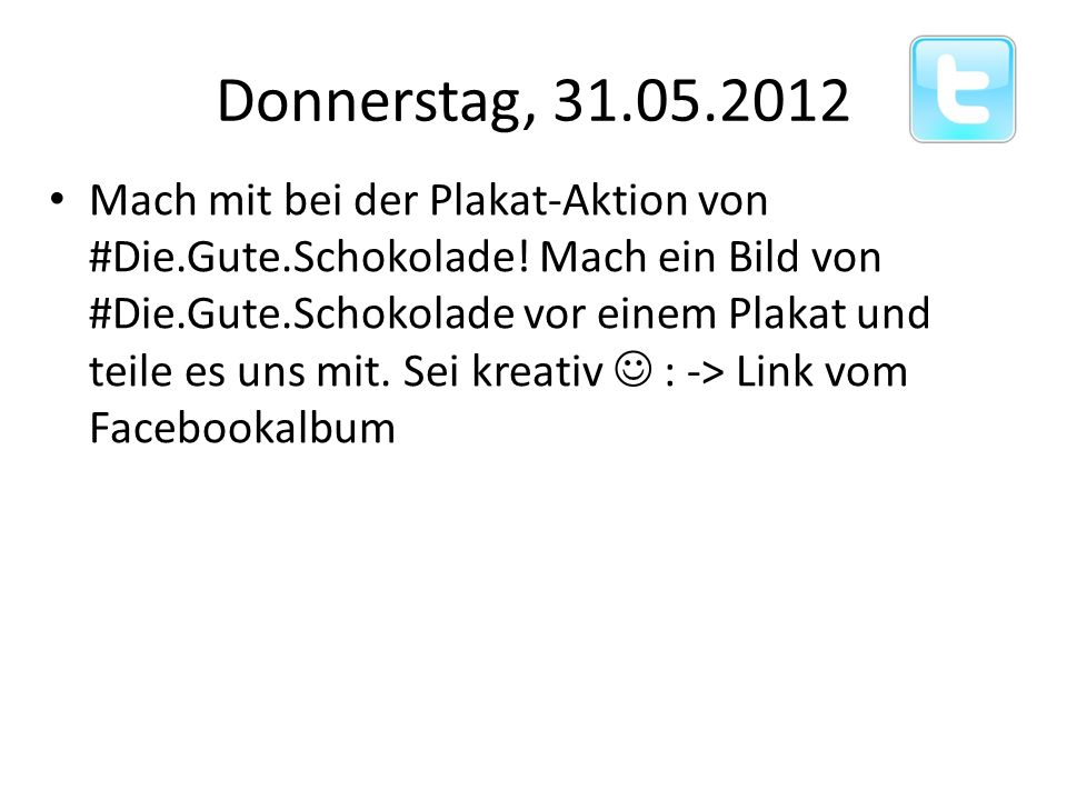 Donnerstag, 31.05.2012