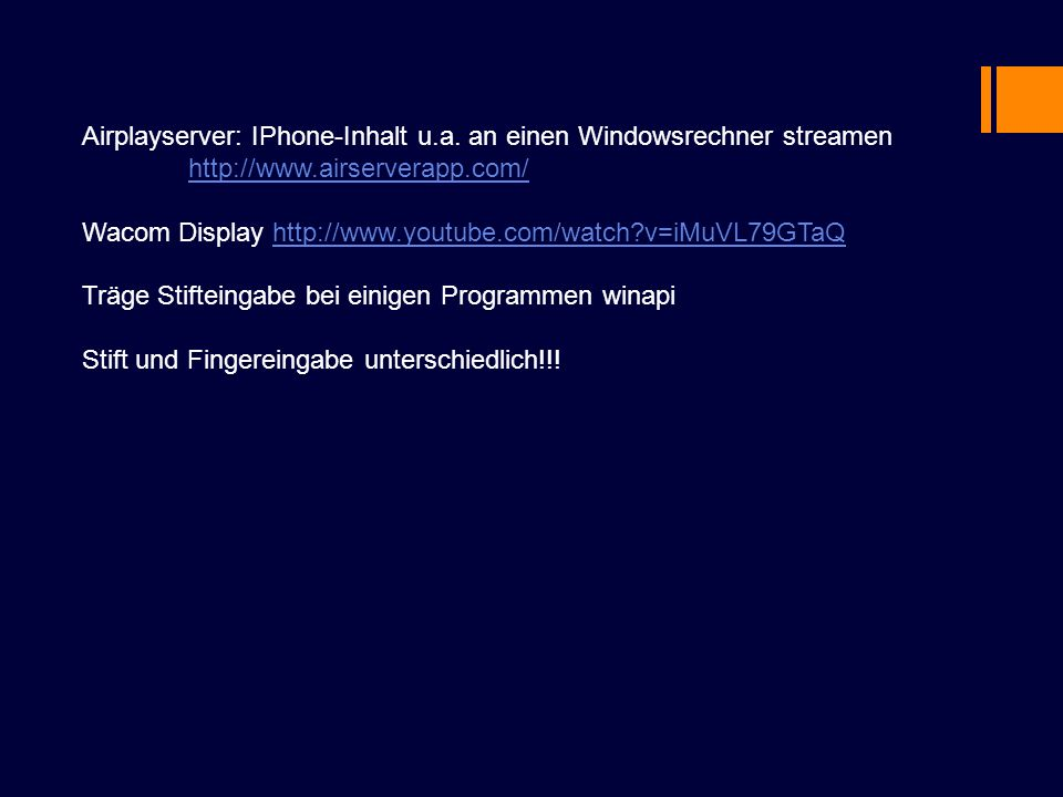 Airplayserver: IPhone-Inhalt u.a. an einen Windowsrechner streamen