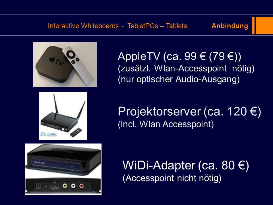 Projektorserver (ca. 120 €) (incl. Wlan Accesspoint)