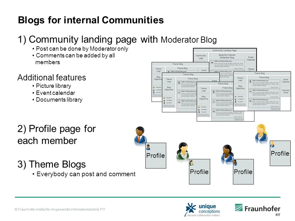 Blogs for internal Communities
