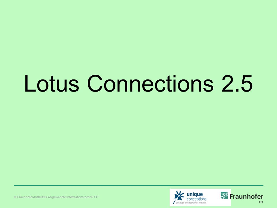 Lotus Connections 2.5