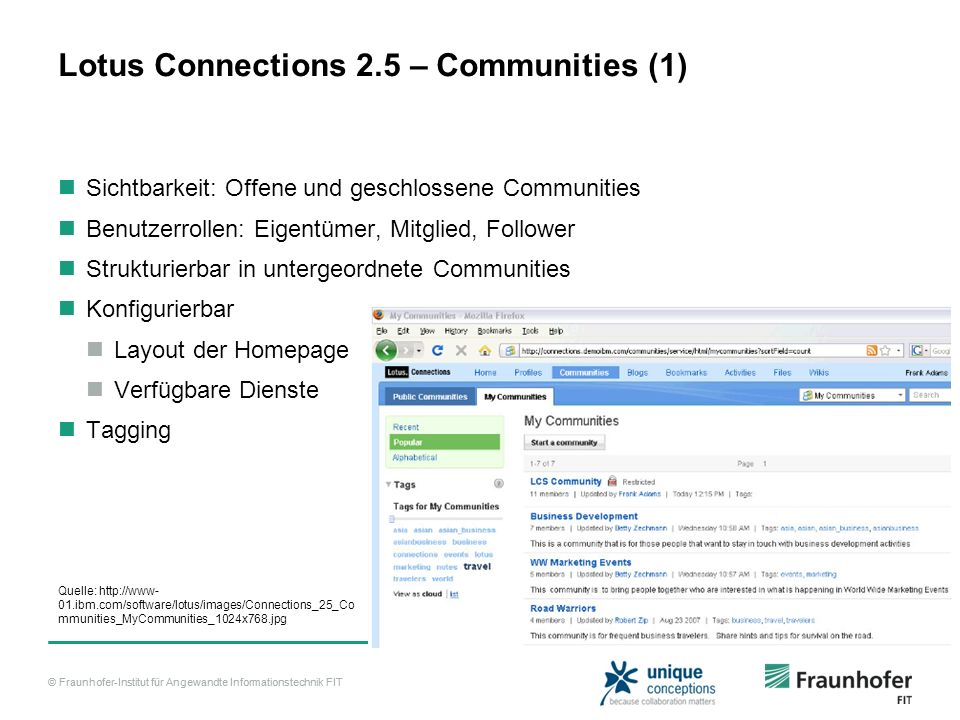 Lotus Connections 2.5 – Communities (1)