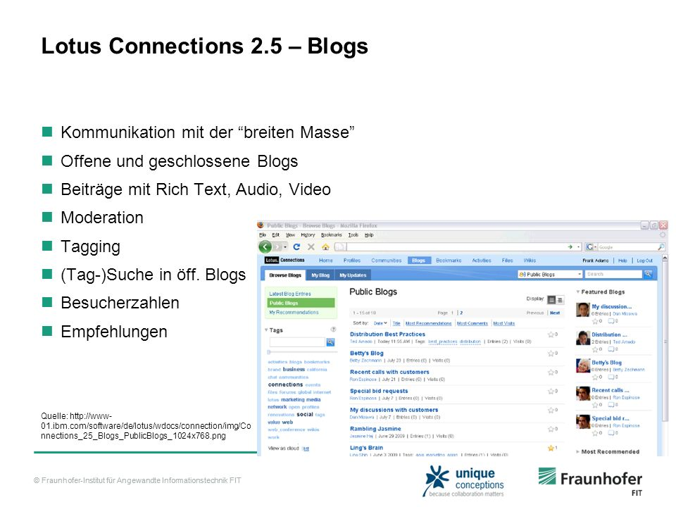 Lotus Connections 2.5 – Blogs
