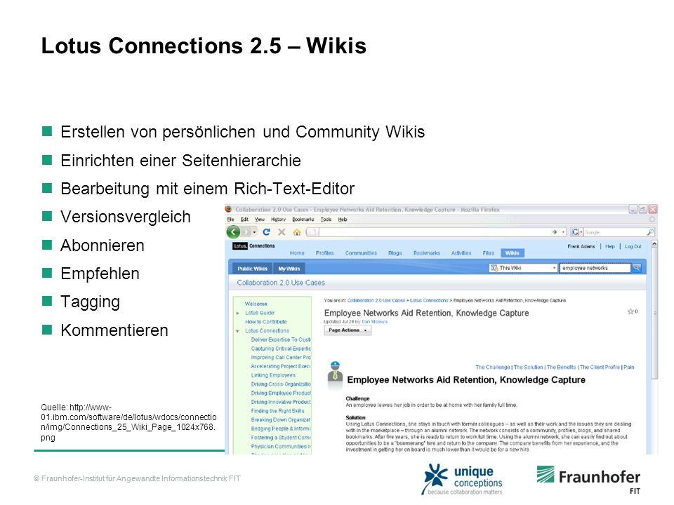 Lotus Connections 2.5 – Wikis