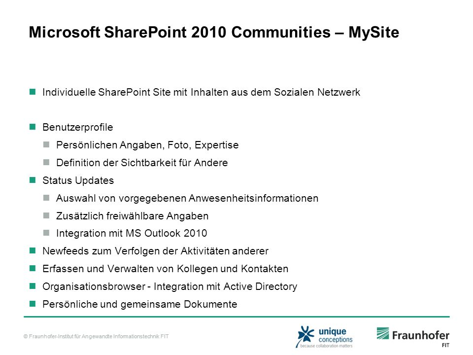 Microsoft SharePoint 2010 Communities – MySite