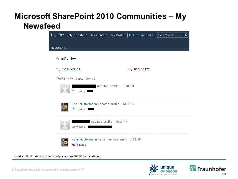 Microsoft SharePoint 2010 Communities – My Newsfeed