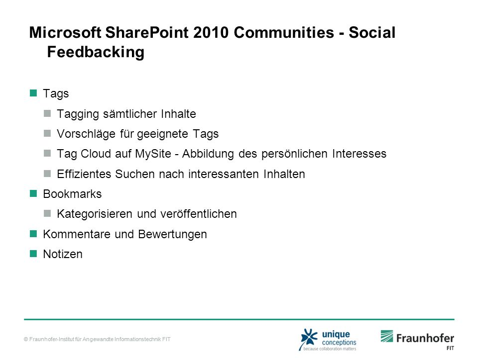 Microsoft SharePoint 2010 Communities - Social Feedbacking