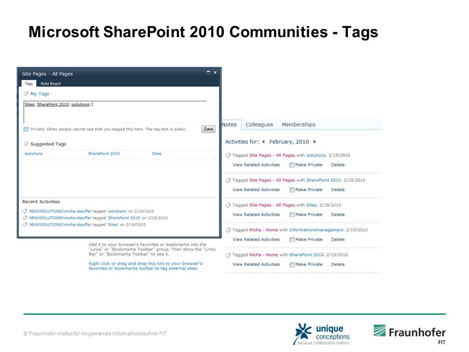 Microsoft SharePoint 2010 Communities - Tags
