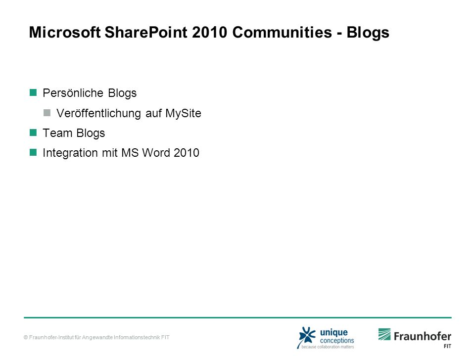 Microsoft SharePoint 2010 Communities - Blogs
