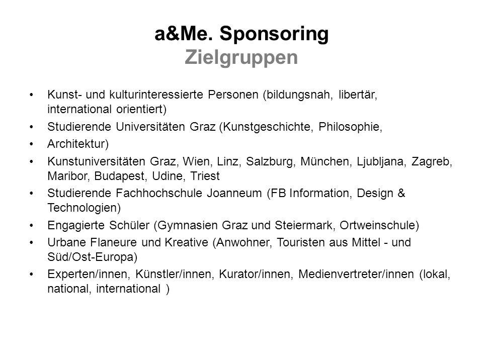 a&Me. Sponsoring Zielgruppen