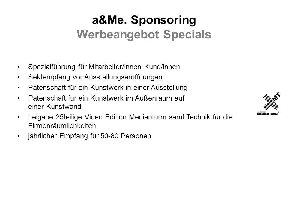 a&Me. Sponsoring Werbeangebot Specials