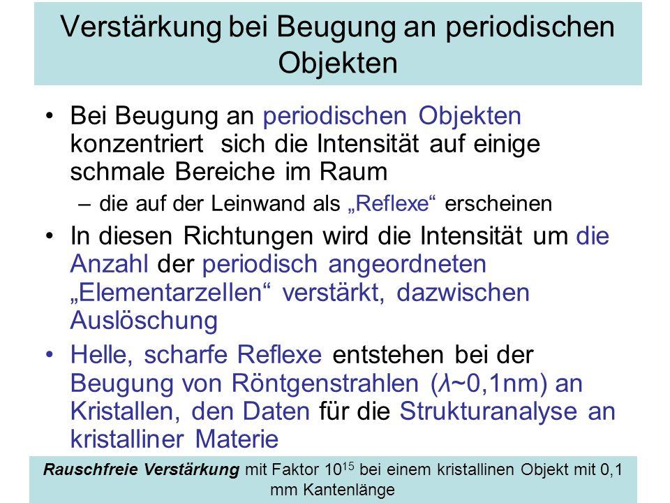 Verstärkung bei Beugung an periodischen Objekten