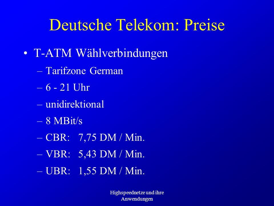 Deutsche Telekom: Preise