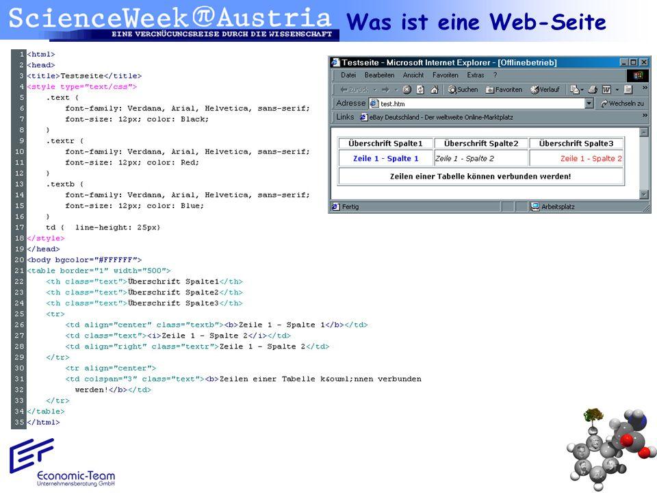 Was ist eine Web-Seite