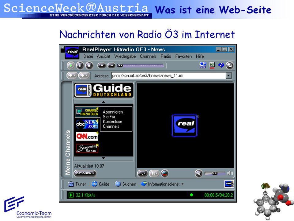 Nachrichten von Radio Ö3 im Internet