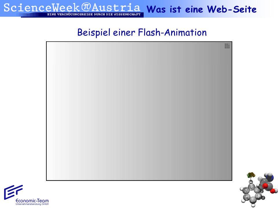 Beispiel einer Flash-Animation
