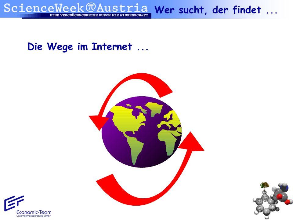 Wer sucht, der findet ... Die Wege im Internet ...