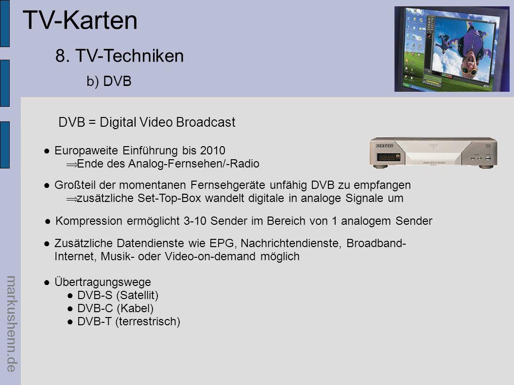 TV-Karten 8. TV-Techniken b) DVB markushenn.de