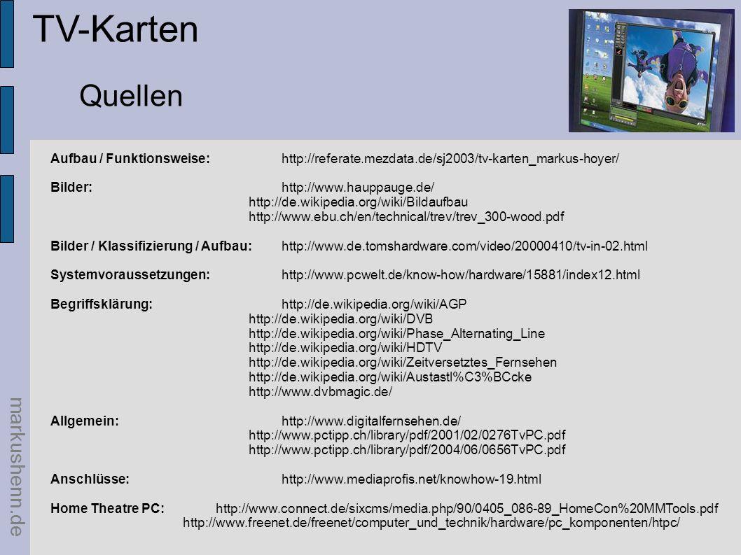 TV-Karten Quellen markushenn.de